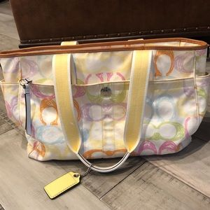 Coach bag (can be used as diaper bag).